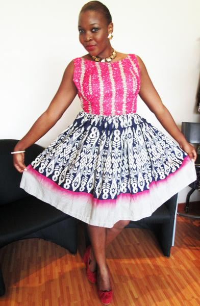 pink ankara gown